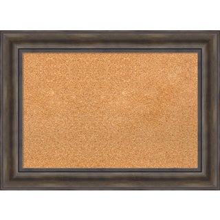 Framed Cork Board, Rustic Pine
