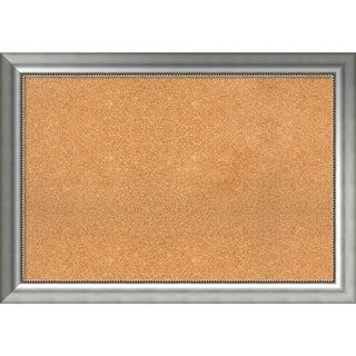 Framed Cork Board, Vegas Burnished Silver