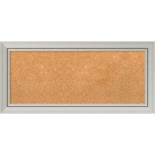 Framed Cork Board, Romano Silver