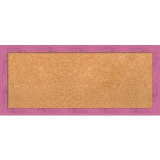 Framed Cork Board, Petticoat Pink Rustic