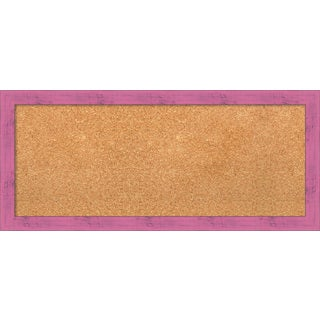 Framed Cork Board, Petticoat Pink Rustic (2 options available)