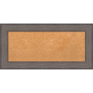 Framed Cork Board, Country Barnwood