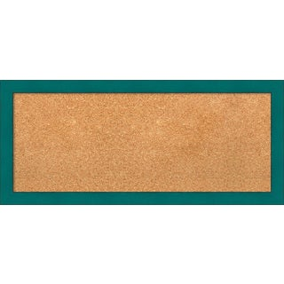 Framed Cork Board, French Teal Rustic