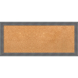 Framed Cork Board, Dixie Grey Rustic