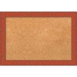Framed Cork Board, Bourbon Orange Rustic