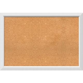 Framed Cork Board, Blanco White