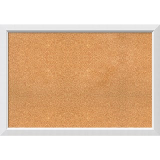 Framed Cork Board, Blanco White (5 options available)