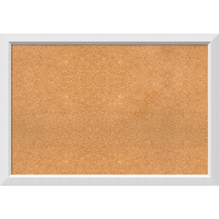 Framed Cork Board, Blanco White
