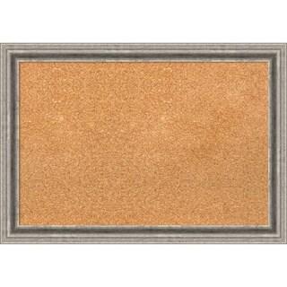 Framed Cork Board, Bel Volto Silver