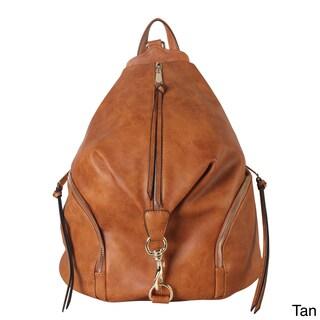 Diophy Zipper Pocket Fashion Backpack (Option: Tangerine)