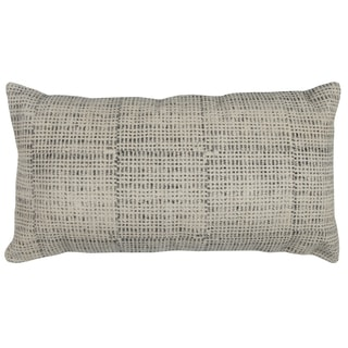 Rizzy Home Textured Solid Cotton 14-inch x 26-inch Decorative Filled Throw Pillow