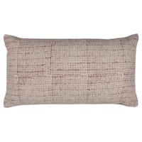 Rizzy Home Textured Solid Red Cotton 14-inch x 26-inch Throw Pillow