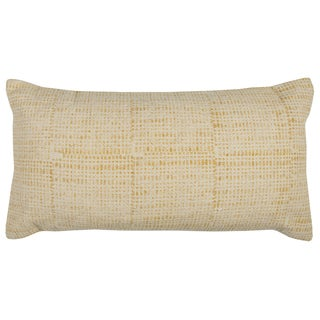 Rizzy Home Textured Yellow Cotton 14-inch x 26-inch Decorative Throw Pillow