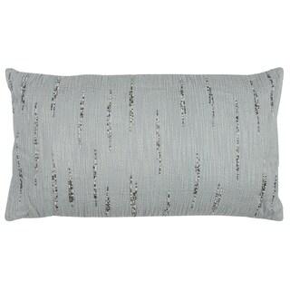Rizzy Home Aqua Cotton Textured Decorative Throw Pillow