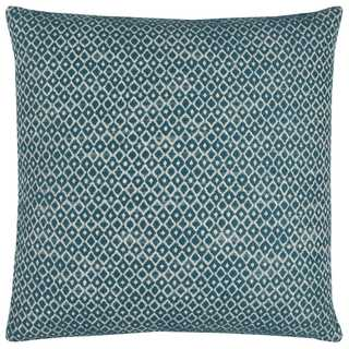 Rizzy Home Solid with Woven Texture Cotton Decorative Throw Pillow