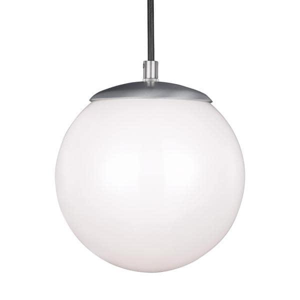 Shop Sea Gull Hanging Globe 1 Light Satin Aluminum Pendant - Free ...