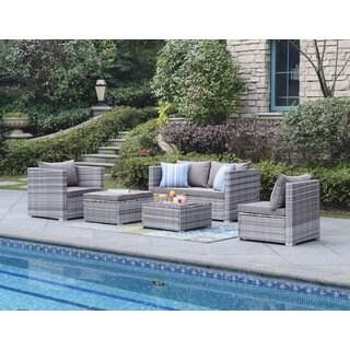 DG Casa Acapulco Grey Sofa Set (Set of 6)