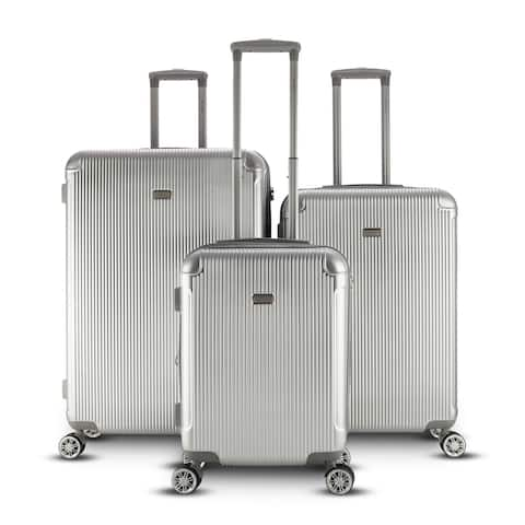 Gabbiano Genova 3 Piece Spinner Hardside Spinner Luggage Set
