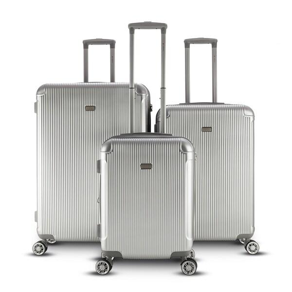 26714f417b1d Shop Gabbiano Genova 3 Piece Spinner Hardside Spinner Luggage Set ...