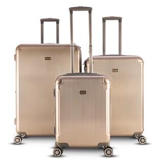 Gabbiano Genova 3 Piece Spinner Hardside Spinner Luggage Set (Option: Champagne)