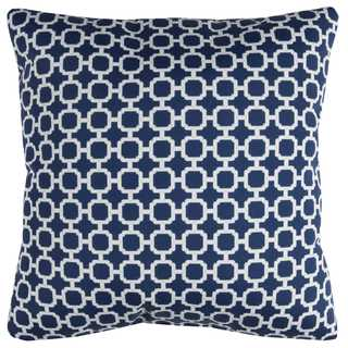 Rizzy Home Geometric Polyester 22-inch x 22-inch Decorative Filled Throw Pillow