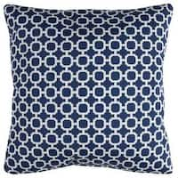 Rizzy Home Indoor Outdoor Geometric Polyester 22-inch x 22-inch Decorative Filled Throw Pillow