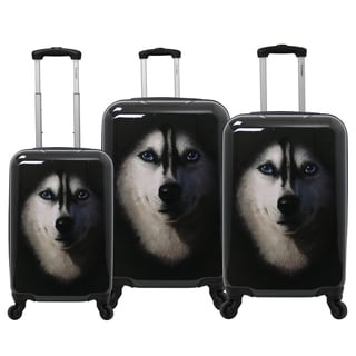 Chariot Husky 3-Piece Hardside Lightweight Upright Spinner Luggage Set