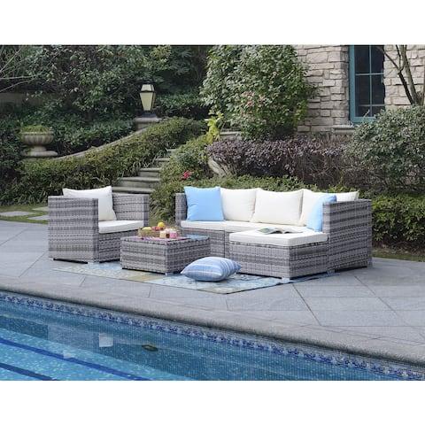 DG Casa Acapulco Beige Six-Piece Outdoor Sofa Set
