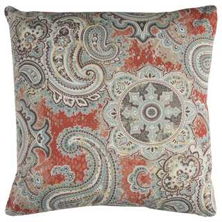 Rizzy Home 22-inch Paisley Polyester Decorative Throw Pillow