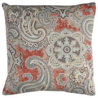 Rizzy Home Indoor Outdoor 22-inch Paisley Polyester Decorative Throw Pillow