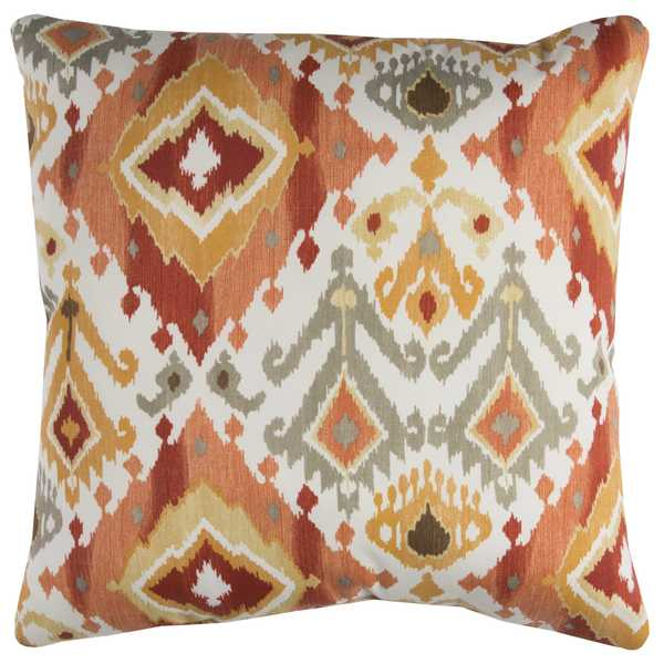 Rizzy Home Indoor Outdoor Red Geometric Polyester Decorative Throw Pillow