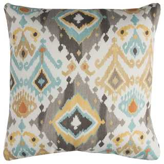 Rizzy Home Grey Geometric Polyester Decorative Throw Pillow