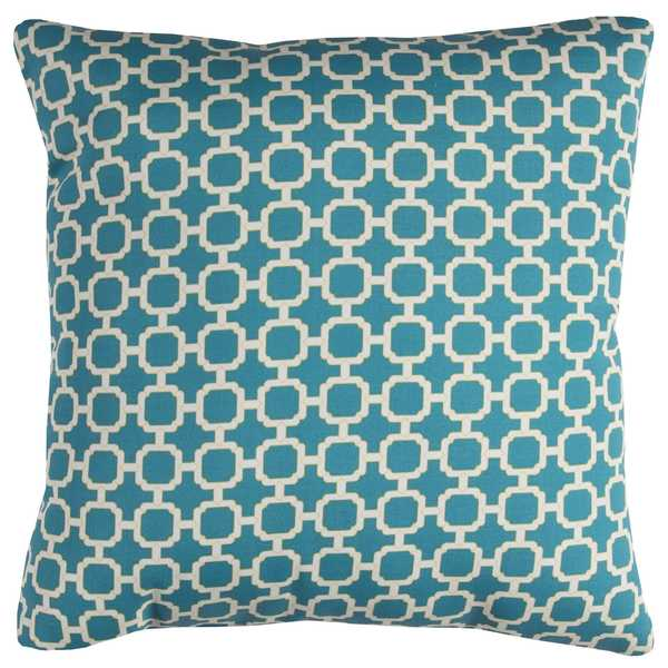 Rizzy Home Geometric Teal 22-inch Square Throw Pillow