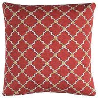 Rizzy Home Indoor Outdoor Geometric 22-inch x 22-inch Polyester Decorative Filled Throw Pillow