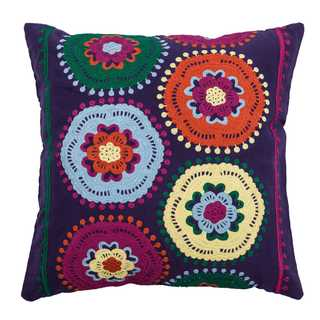 Rizzy Home Medallions Cotton 18-inch Throw Pillow