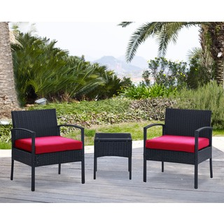 DG Casa San Juan Steel Rattan 2 Chair and Table Set