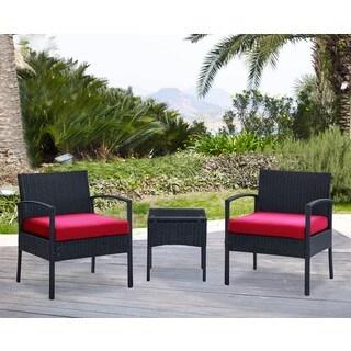 DG Casa San Juan Steel Rattan 2 Chair and Table Set