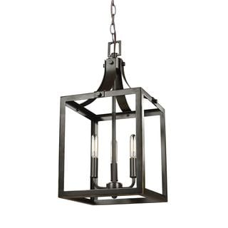 Sea Gull Labette 3 Light Heirloom Bronze Hall Foyer Fixture