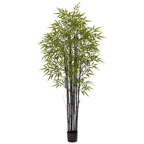 Nearly Natural Black 6-foot UV-resistant Bamboo Tree