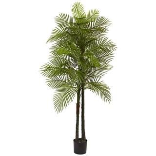 7-foot Double Robellini UV Resistant Indoor/Outdoor Palm Tree