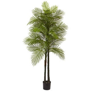 7-foot Double Robellini UV Resistant Indoor/Outdoor Palm Tree