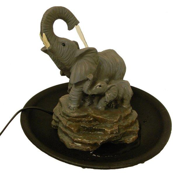 Seaich Brown Acrylic Elephant Water Fountain