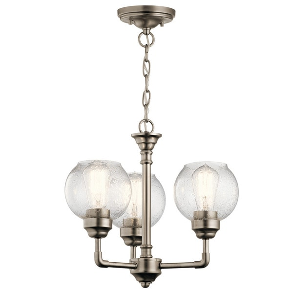 Kichler Lighting Niles Collection 3-light Antique Pewter Chandelier/Semi  Flush Mount - Kichler Lighting Niles Collection 3-light Antique Pewter