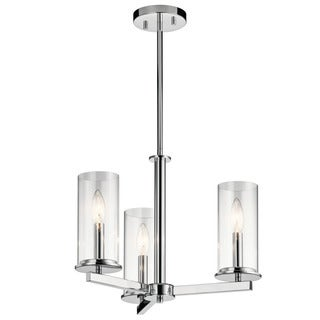 Kichler Lighting Crosby Collection 3-light Chrome Chandelier/Semi Flush Mount