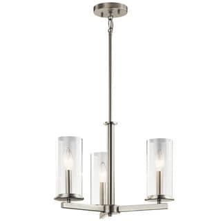 Kichler Lighting Crosby Collection 3-light Brushed Nickel Chandelier/Semi Flush Mount