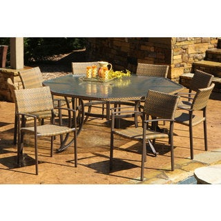 Havenside Home Cape 9-piece Maracay Outdoor Octagon Dining Set