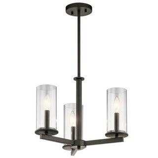 Kichler Lighting Crosby Collection 3-light Olde Bronze Chandelier/Semi Flush Mount