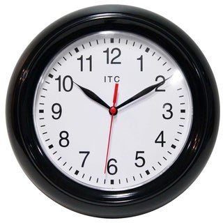 Focus Simple Business Black 9 inch Wall Clock by Infinity Instruments - N/A
