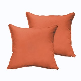Sloane Mandarin Orange Indoor/ Outdoor 22-inch Square Pillow Set