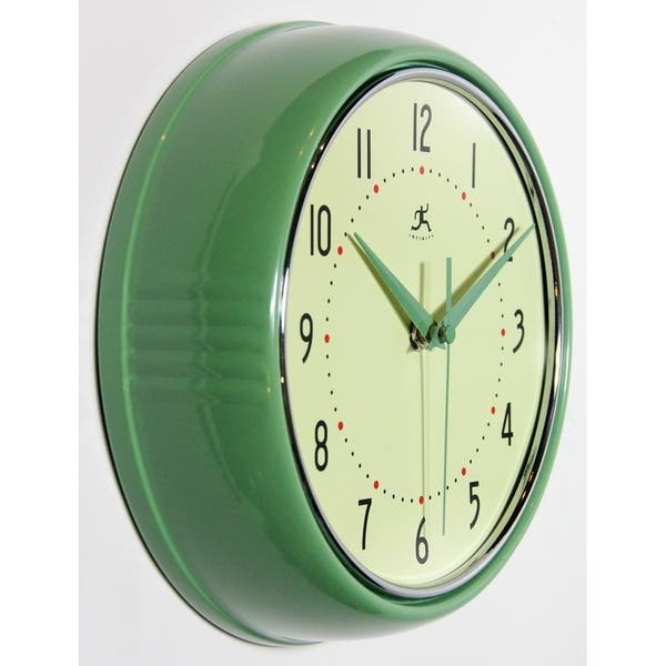 Round Retro 9 5 Inch Kitchen Vintage 50s Wall Clock By Infinity Instruments On Sale Overstock 14309284